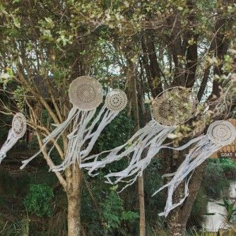 dream catchers for hire by http://thewhiteweddingclub.com