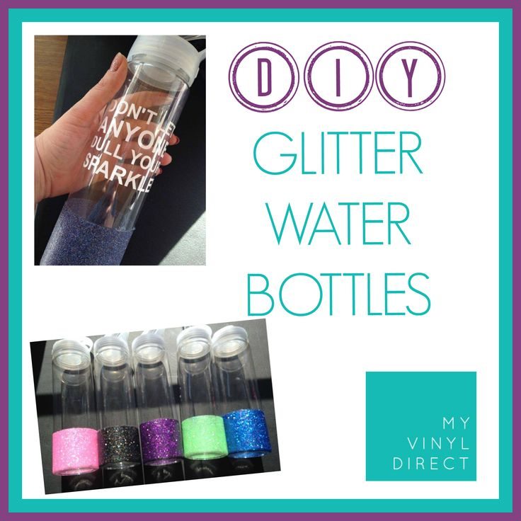 Looking for a fun way to spruce up our water bottles (as if adding vinyl isn't enough! LOL) Today we show you how to DIY glitter encrusted water bottles!