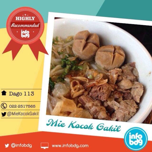 Mie Kocok Iga Kikil super recommended!