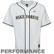 Nike Wake Forest Demon Deacons Performance Replica Baseball Jersey - White
