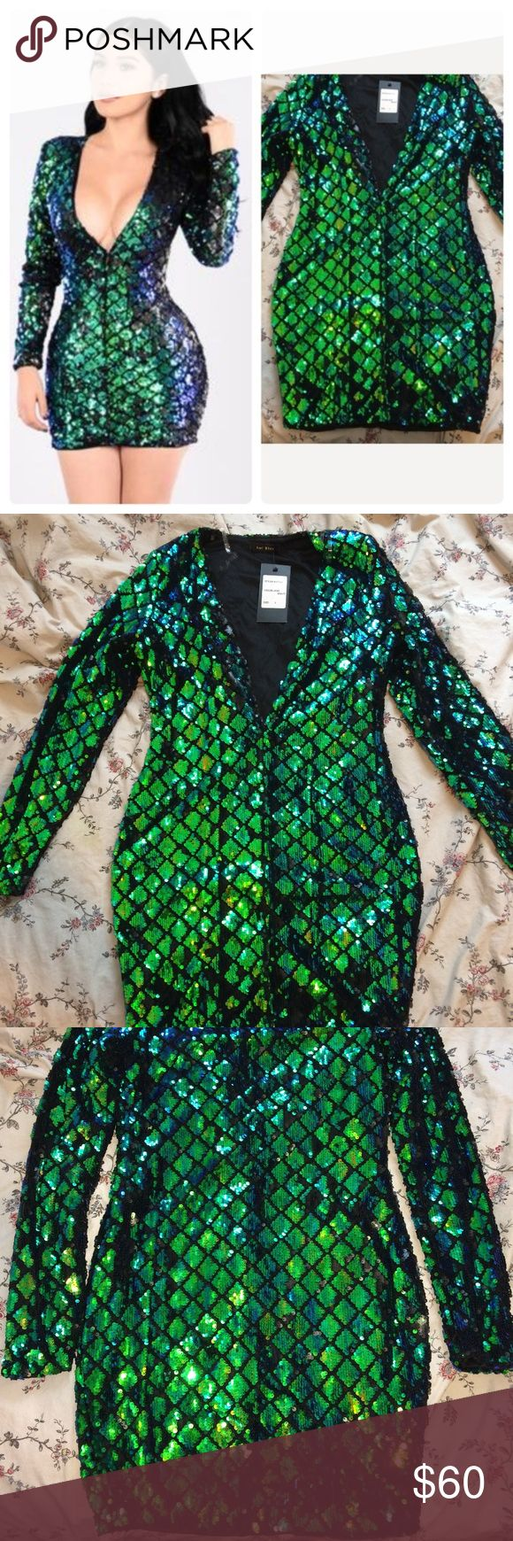 Fashion Nova Baddie New Year Eve / Bday Dress Size L