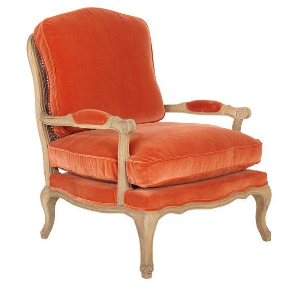 Chantal velvet chair burnt orange sillones pinterest