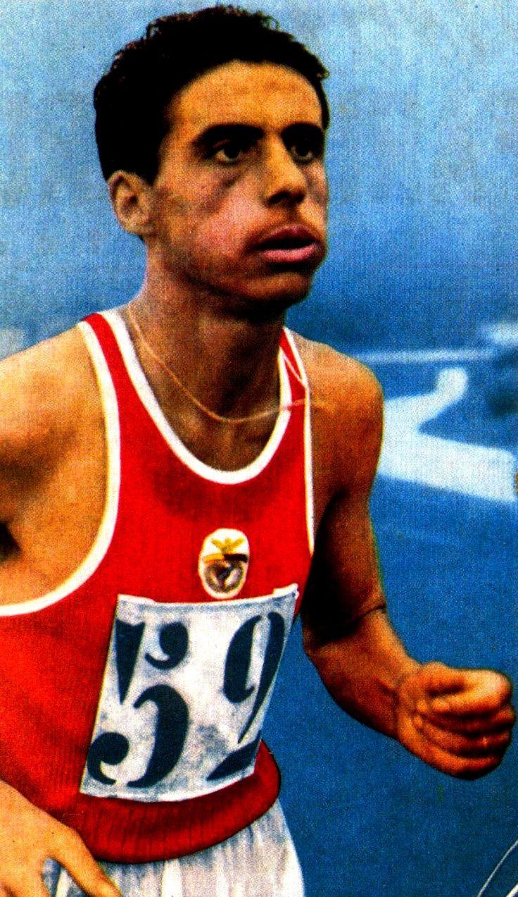 José Araújo, grande nome do atletismo (fundo) benfiquista