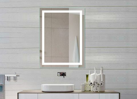LIGHTED Bathroom Mirror Harmony Size X Inches Sensor Switch Leave 4 Space Between The Wall And