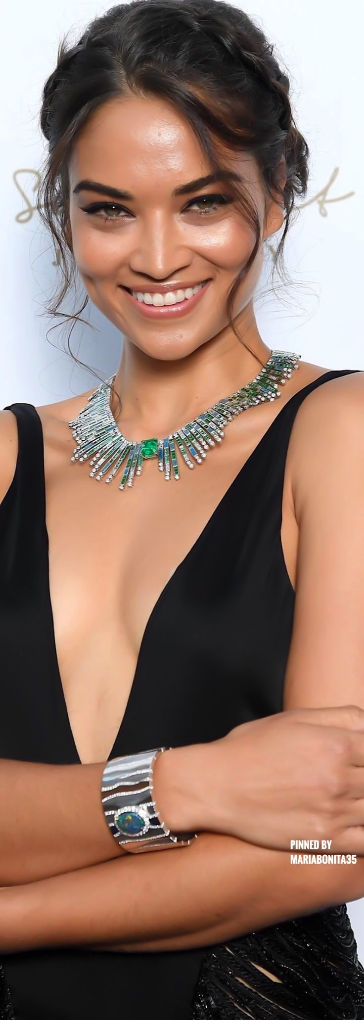 Shanina Shaik wearing Piaget Diamonds