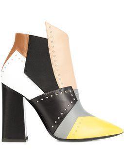 ботинки дизайна колор-блок
