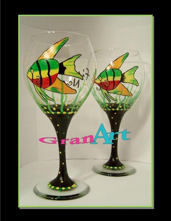 Fish Wine Glass Finding Nemo Nemo Tropical Wine Glass by GranArt