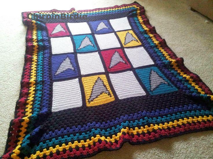 Chirpinbirdie star trek blanket star trek blanket star