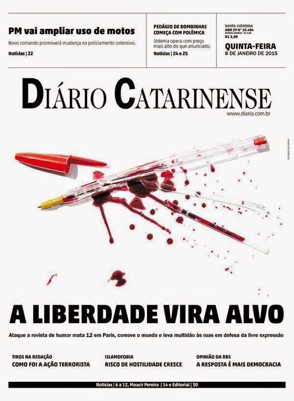 Diario Catarinense. Tras el ataque terrorista de Charlie Hebdo