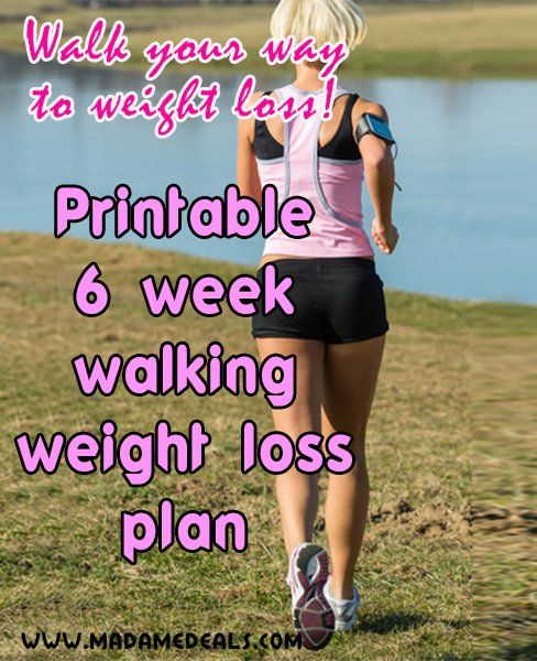 Printable Walking Weight Loss Plan to keep track of your fitness walking challenge.