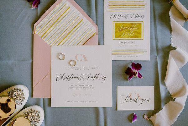 Elegant Wedding stationary | Blush pink and gold invites | Wedding printables | Luxury weddings | Greek Island Weddings