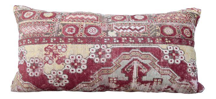 Handmade Turkish Carpet Pillow on Chairish.com