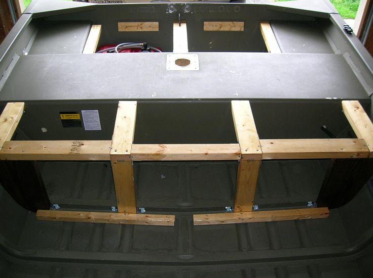 Jon Boat Modification Support Braces Rear Deck Livewell