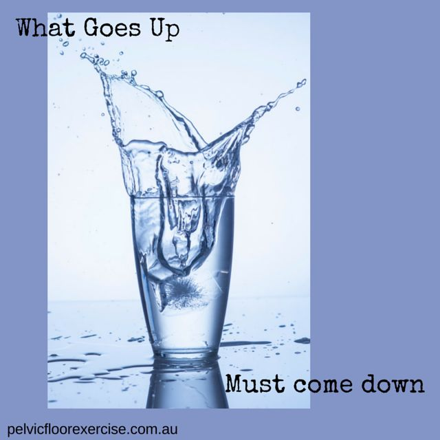 What goes up must come down....like your pelvic floor and your diaphragm