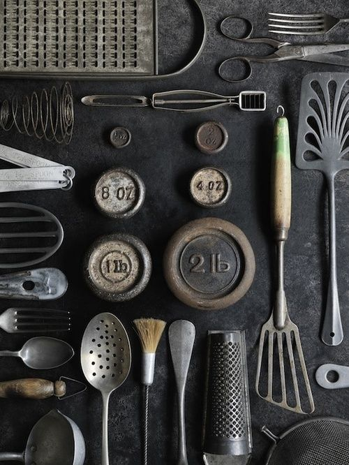 the style skinny - utensils. Beautiful collection antique utensils