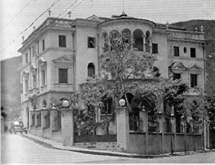 María Victoria Fory: CALI VIEJO - Memoria fotográfica. Antigua sede del Club Colombia.  Año 1945.  Foto Archivo histórico