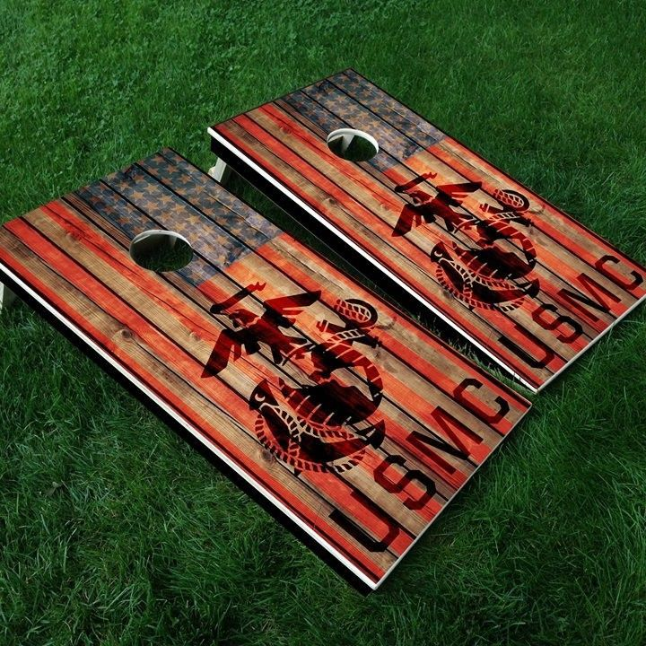 US Marine Corps Cornhole Boards from Sly Fox Prints, LLC for $199.00