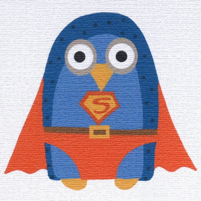 """""""Super Owl"""" a card for all sorts of occasions and for all sorts of people. Blank inside"""
