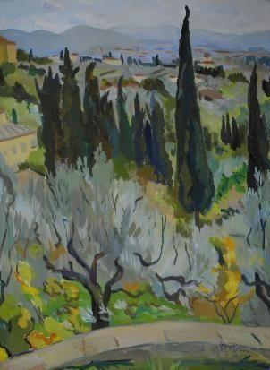 CYPRESS TREES, PRETORIA By Irma Stern 1937