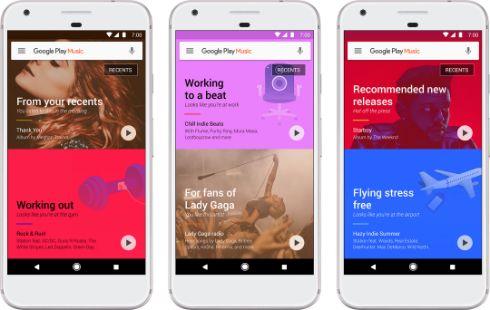 「Google Play Music」に機械学習採用プレイリストやオフライン再生機能強化 Googleの音楽サービス「Google Play Music」のローリングアウト中のアップデートで、ユーザーの行動に合わせたプレイリストがリアルタイムで表示されるようになる。例えば通勤中、勉強中、ランニング中など向けのプレイリストを機械学習によって提示する([設定]でのオプトインが必要)。