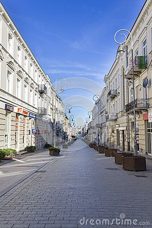Henryka Sienkiewicza Street In The Center Of Kielce, Poland - Download From Over 40 Million High Quality Stock Photos, Images, Vectors. Sign up for FREE today. Image: 64071120