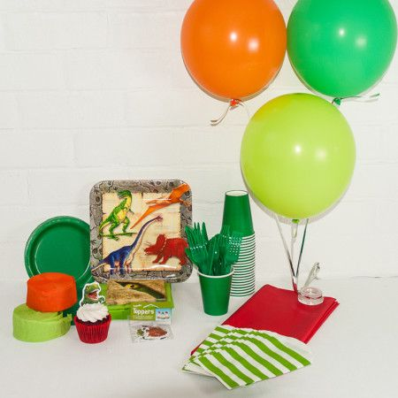 Dinosaur themed party Package. Great value delivered to your door. http://www.qualitytimepartysupplies.com.au/shop/dinosaur/dinosaur-party-package/