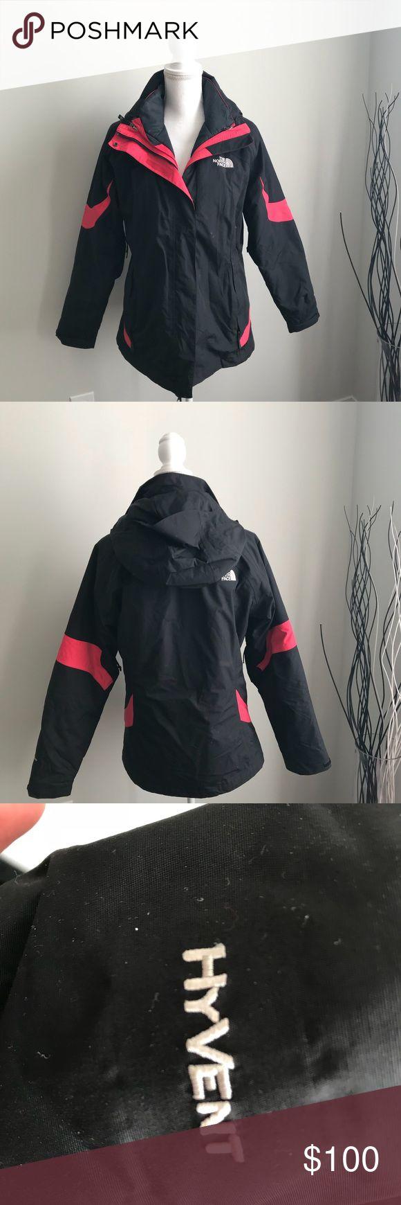 EUC The North Face HyVent Ski jacket size Large EUC The North Face Ladies HyVent Ski jacket Size Large North Face Jackets & Coats