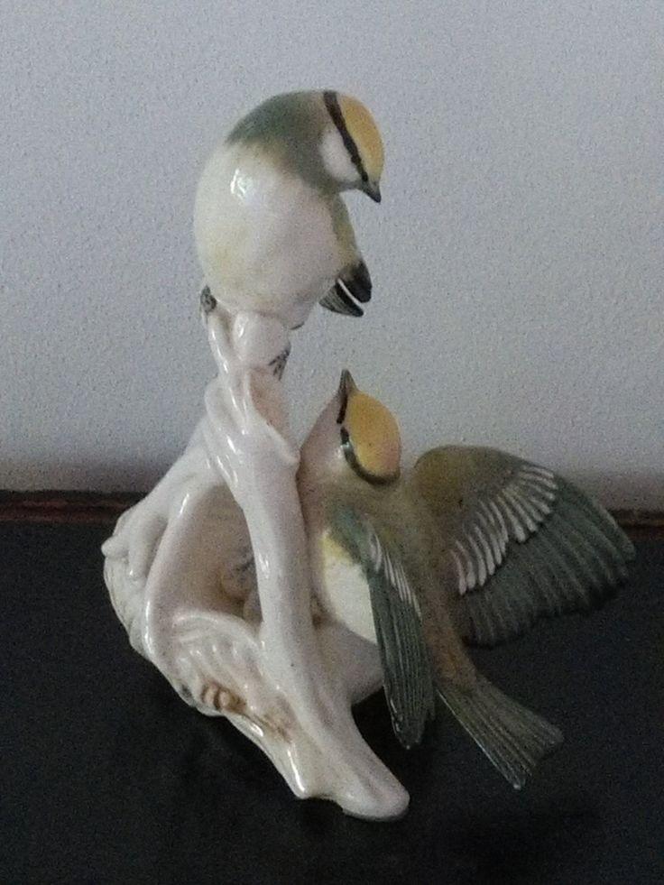 Piccola statua con uccellini in porcellana Karl Ens di CodiceAntico su Etsy