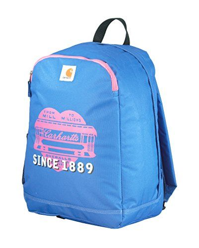 345f7fe111 Carhartt Traditional School-Backpack, Blue/Pink Heart | Tool Bags 1 ...