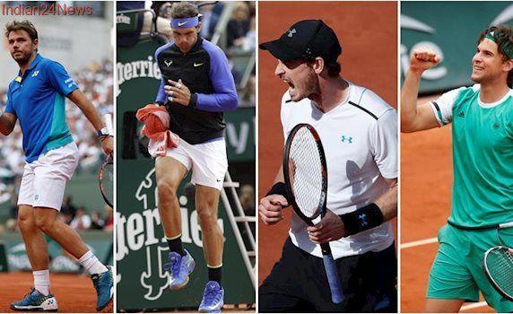 French Open 2017 semi-final draw decided, Rafael Nadal, Stan Wawrinka, Andy Murray through