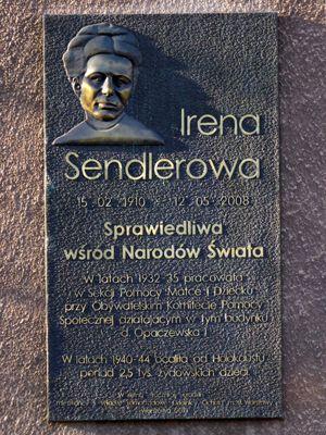 Irena Sendler Memorial Plaque