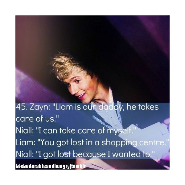 One Direction Niall Quotes: Tumblr Liked On Polyvore
