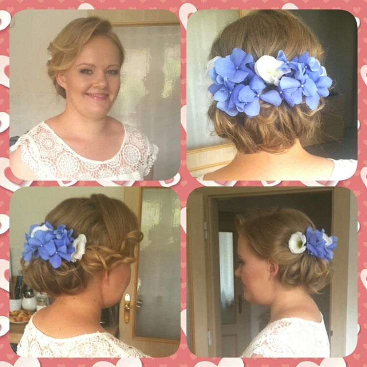 Wedding makeup and hairstyling with lovely blonde bride. Natural makeup. #makeupartist #makeup #weddingmakeup #bride #wedding #bridehairstyling #hairupdo