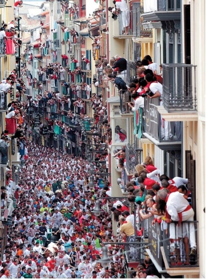 San Fermin festival, running with the bulls, Pamplona, Spain