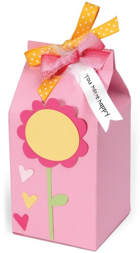 "Milk Carton Box, 20.75""X5.625""X2.625"" Sizzix Bigz Big Shot Pro Die 656830"