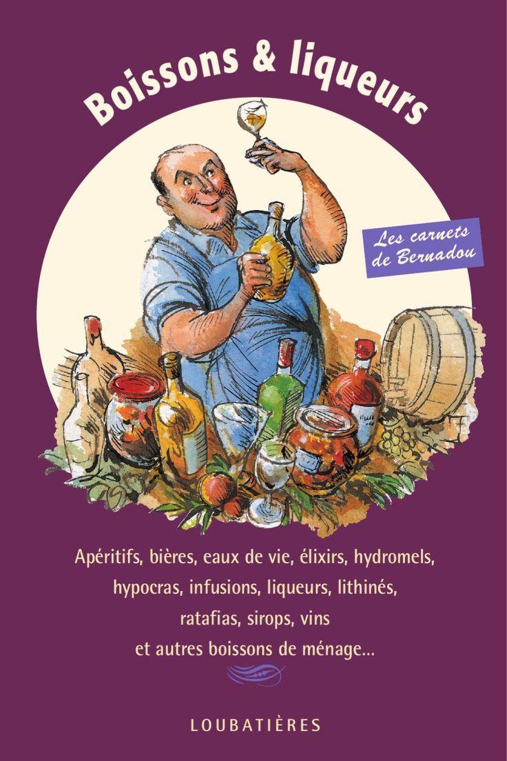 """Boissons & liqueurs  Bière de cosses de petits pois, pétillante """"la modeste"""", hydromel russe, hypocras de fraises, malvoisie, sirop d'orgeat, ratafias de fruits, de fleurs, parfait amour, liqueur de génépi, vins d'artichauts ou de cerises, élixir des jacobins, bishof, """"jaune"""" de papa, lithinés… et bien d'autres boissons de ménage sont rangés dans ce Carnet de Bernadou. Jacques Bernadou connaît depuis l'enfance les secrets de ces boissons, autrefois serrés dans les cahiers des grands-mères –…"""