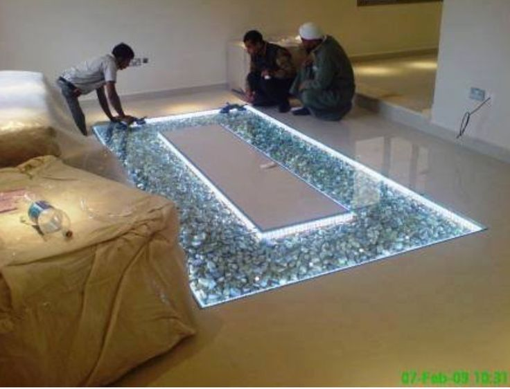 14 Best Glass Flooring With Pebbles Images On Pinterest
