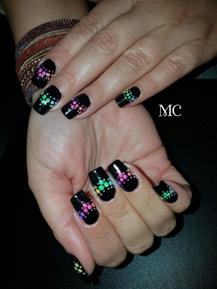 #gellack #naildesign #blacknails