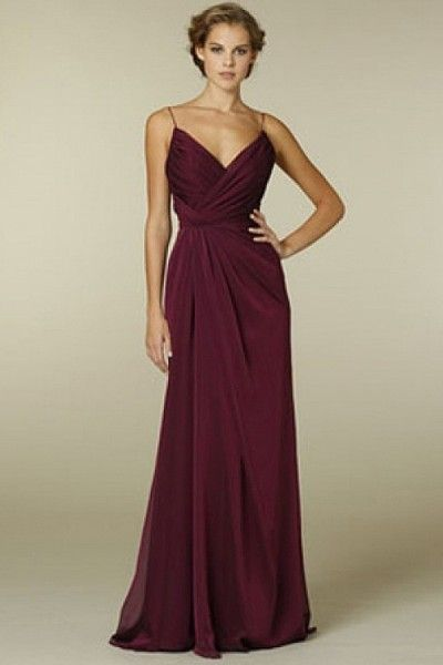 Pleated Chiffon Floor Length Sheath Bridesmaid Dress - 2013 New Arrival Bridesmaid Dresses - Bridesmaid Dresses - Wedding Apparel