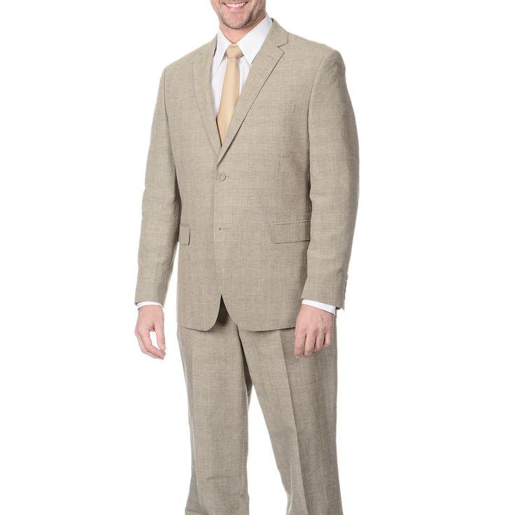 Reflections Men's Tan 2-piece Suit