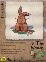 Mouseloft In The Woods Counted Cross Stitch Kit - Rosie Rabbit