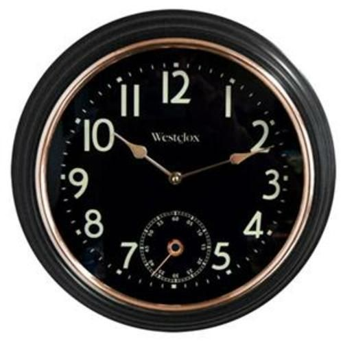 "Westclox 12"" Black Analog Indoor Wall Clock with Seconds Dial in Factory Box #Westclox"