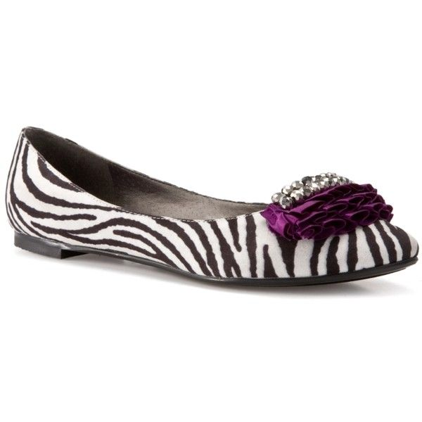 G BY GUESS Delara Zebra Flat - Zebra, found on #polyvore. #shoes #flats #sapatos other shoes