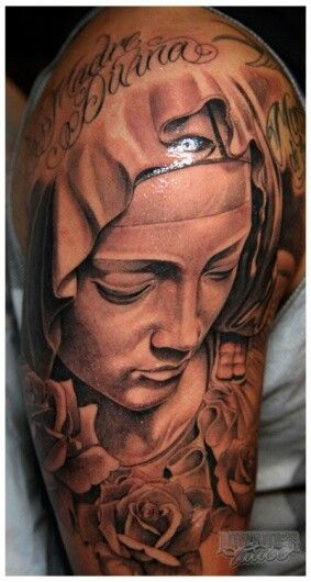 225 best mother mary comes to me images on pinterest for Tattoos catholic church