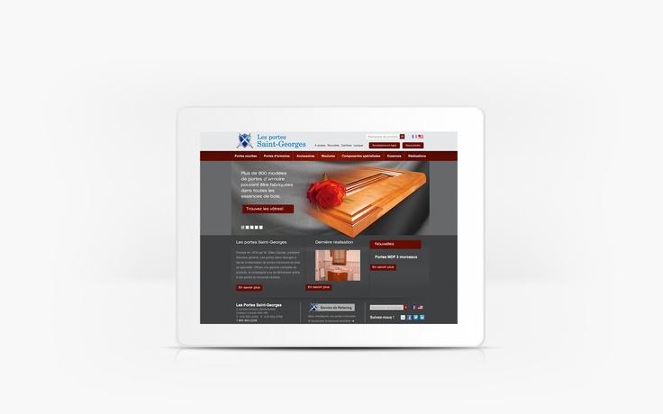 Les porte St-Georges | www.portessaint-georges.com | Site Web | Team Marketing • Web • Design