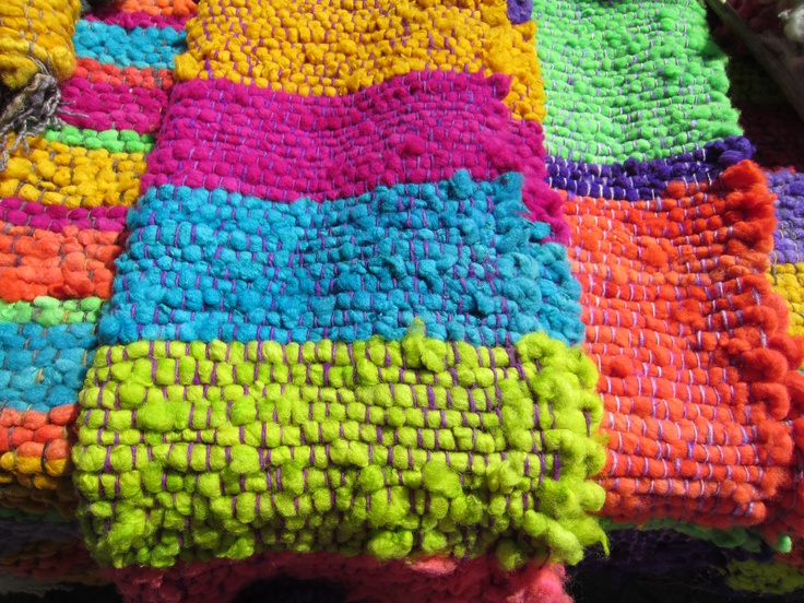 The bright colors of Chile reflecting the diversity of the country. Artisan handicrafts in Chiloe. Photo by CD
