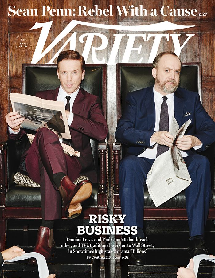 "Variety cover: Jan. 13, 2016: Damian Lew and Paul Giamatti in ""Billions"" http://variety.com/2016/tv/features/billions-showtime-damian-lewis-paul-giamatti-1201678171/"