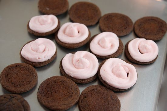 Chocolate Peppermint Sandwich Cookies | Favorite recipes | Pinterest