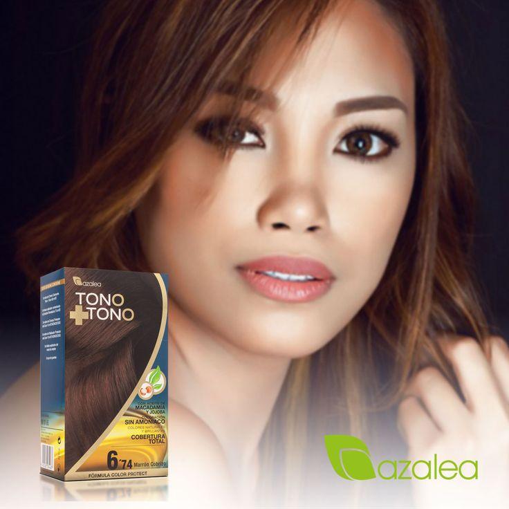 ¿Los prefieres sin amoniaco? 😏 Tono + Tono : cabello natural y brillante Like si has encontrado el tinte sin amoniaco que buscabas 😍  #AzaleaCosmetics #Hairstyle #Tinte #Color #Teñir #TonoMasTono #SinAmoniaco #Look #Colorcion #Cabello