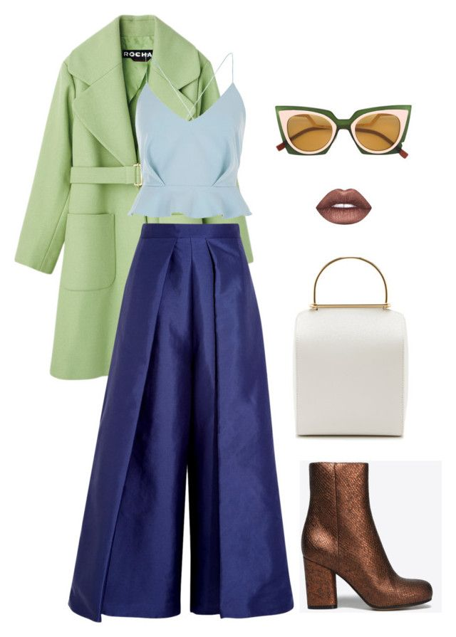 """Bronze"" by trend-anonymous on Polyvore featuring Besa Lighting, River Island, Solace, Fendi, Lime Crime and Maison Margiela"